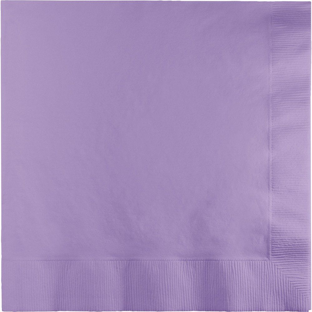 250-Count Touch of Color 3-Ply Paper Dinner Napkins, Lucsious Lavender
