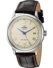 Orient Men's '2nd Gen. Bambino Ver. 2' Japanese Automatic Stainless Steel and Leather Dress Watch