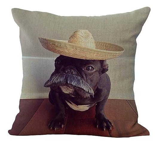hengjiang francés Bulldog suave funda de almohada algodón ...
