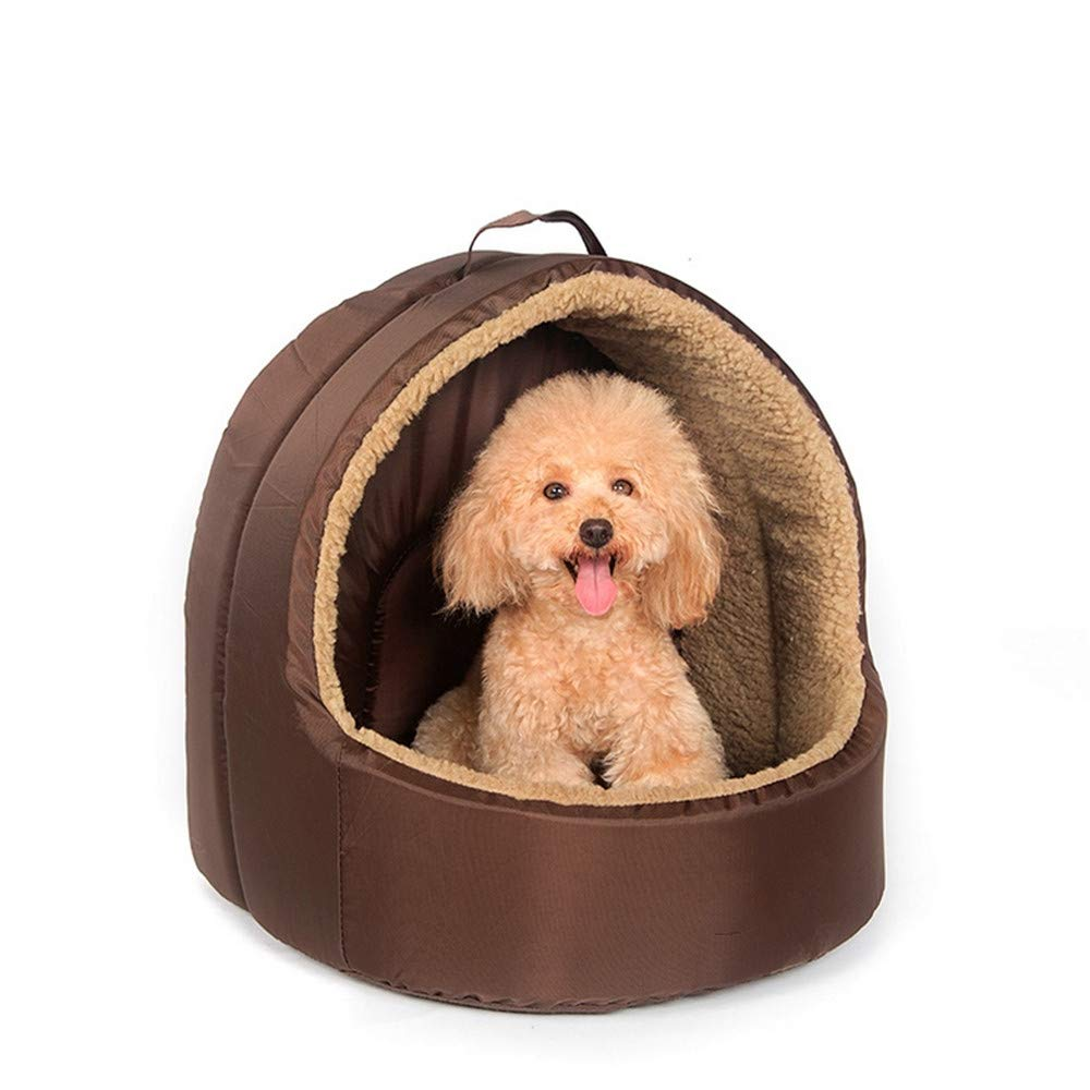 Wuwenw Pet Dog Cottage House Home Kennel Four Season House Cojín Cat House, S, B