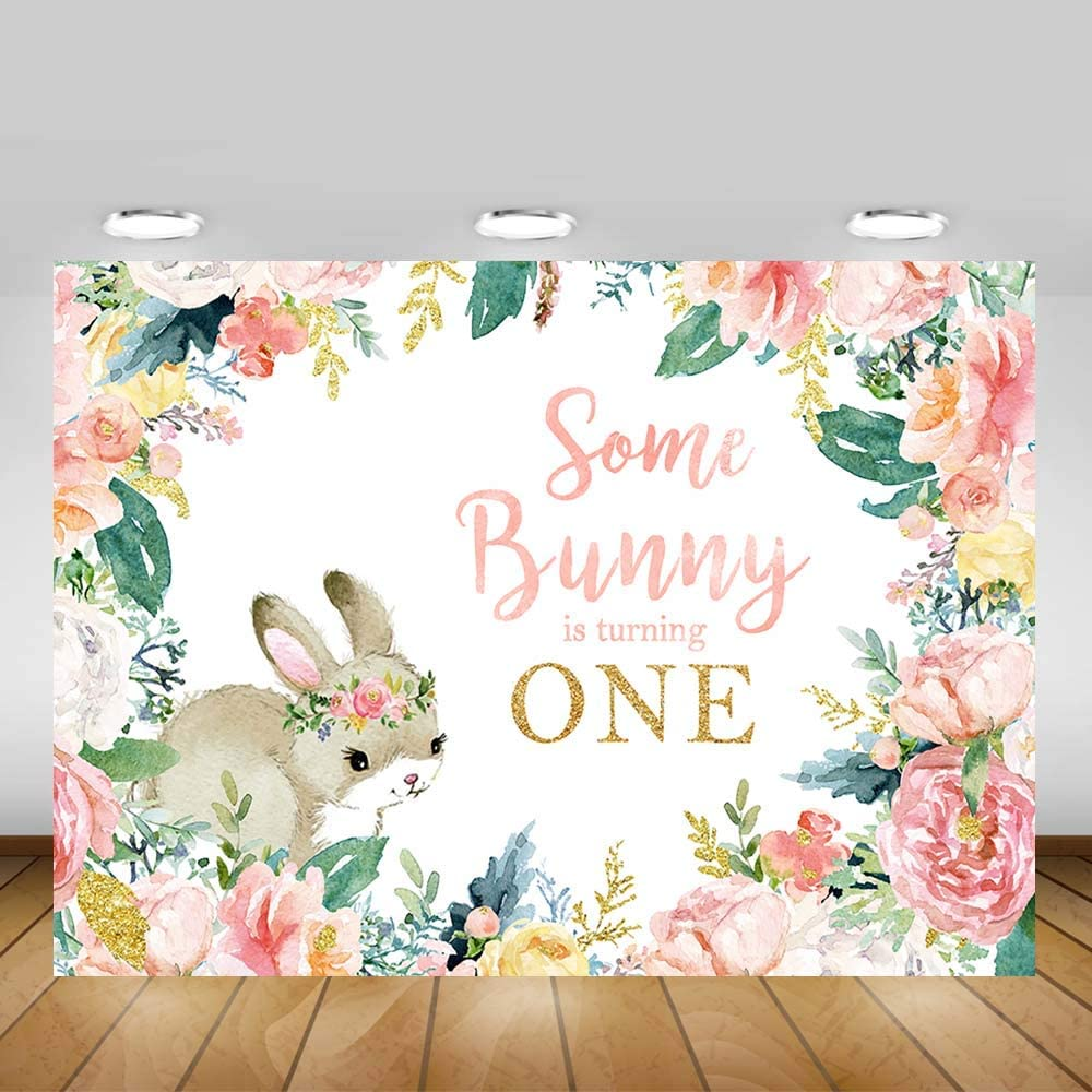 Spring Decor  Girl  3 Day Ship Custom Text Personalized 2 FT Easter Banner Some Bunny Loves You  First Birthday Baby Shower Name  Banner