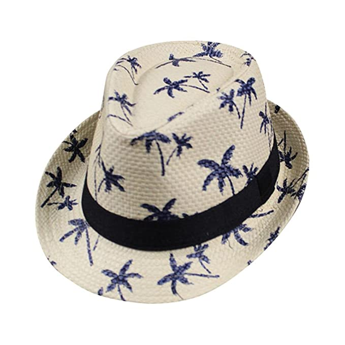 063f9b69b7d Vertily Hat Unisex Foldable Maple Leaf Straw Beach Wide Brim Visor Plain Sun  Cap (Beige)  Amazon.ca  Clothing   Accessories