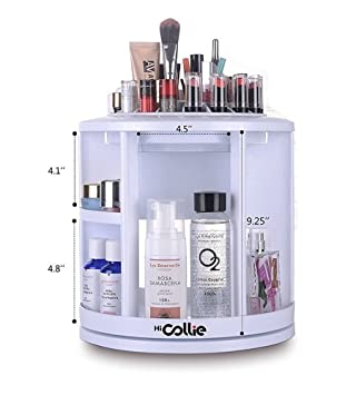 HiCollie Makeup/Cosmetic Organizer Equipped 360 Rotating /Revolving Cosmetic  Storage Tabletop Big Capacity Carousel