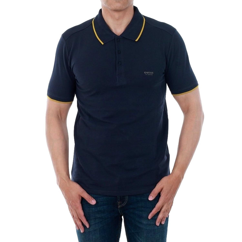 919c8545 Guess Polo Shirt Men Short Sleeve Navy Blue M73P48K4KV0-G720: Amazon.co.uk:  Clothing