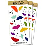 Umbrellas Scattered Removable Matte Sticker Sheets Set