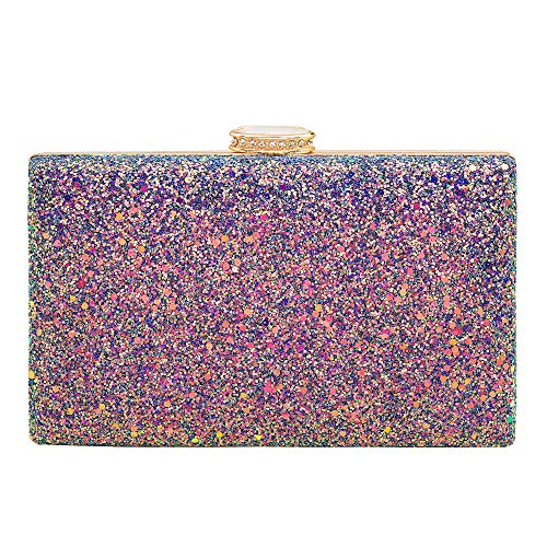 Glitter Purse - Women's Elegant Sparkling Glitter Evening Clutch Bags BlingEvening Handbag Purses For Wedding Prom Bride(Purple)