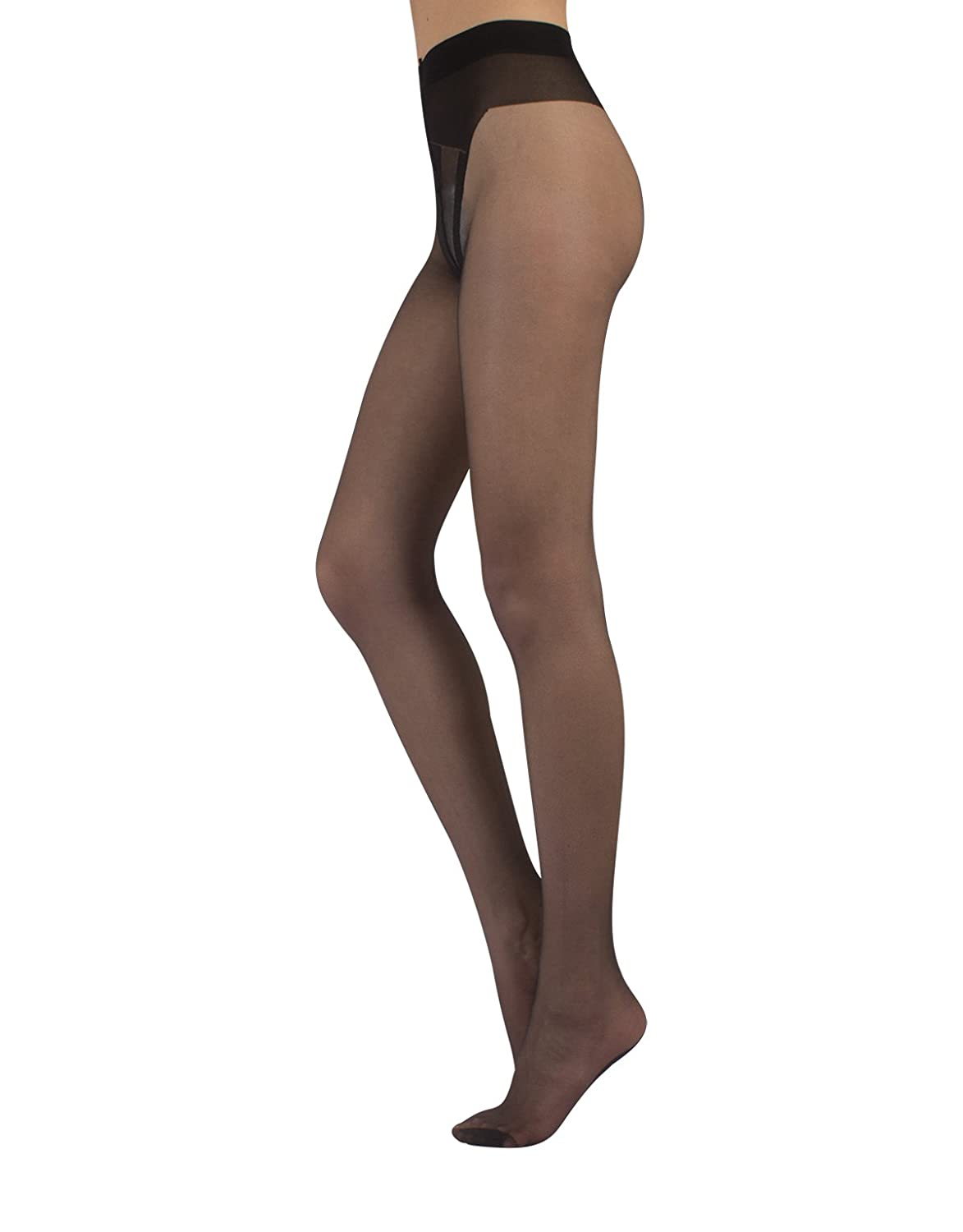 6e304427071 Sheer 20 denier tights with sexy black cuban heel and sexy brief made with  top ...