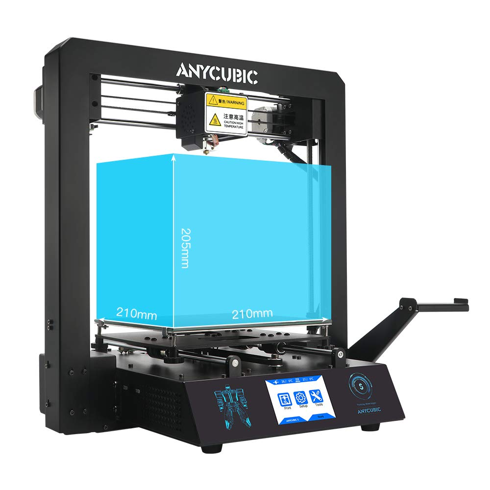 Free 1kg PLA Filament Works with TPU//PLA//ABS 3.5 Touch Screen ANYCUBIC MEGA-S 3D Printer Printing Size 210 x 210 x 205mm With UltraBase Heated Build Plate UK Plug