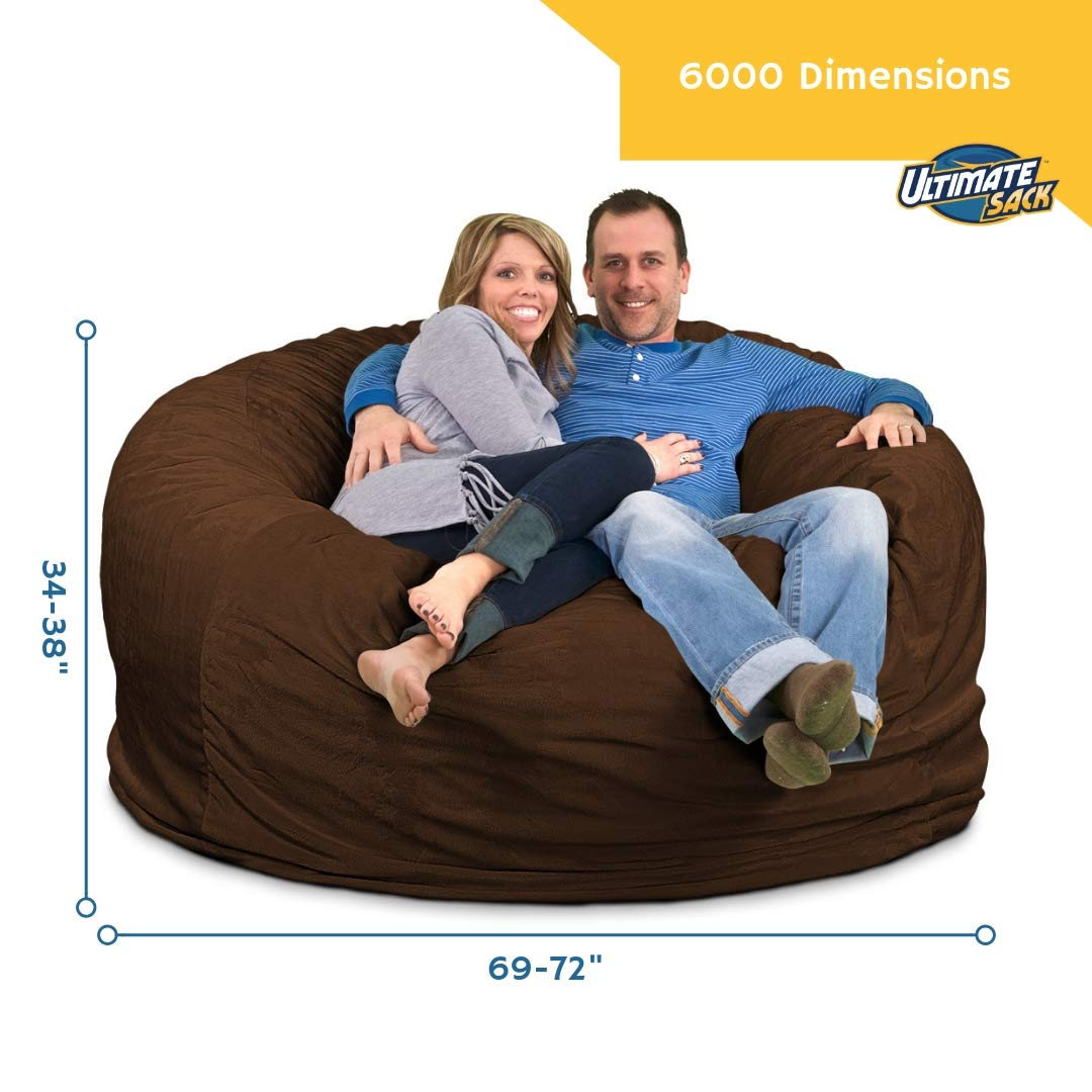 Amazon Com Ultimate Sack 6000 Bean Bag Chair Giant Foam Filled