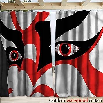 warmfamily - Máscara de Kabuki para pérgola, Disfraz (108 x 96 cm ...