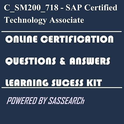 Amazon.com: C_SM200_718 - SAP Certified Technology Associate - SAP ...