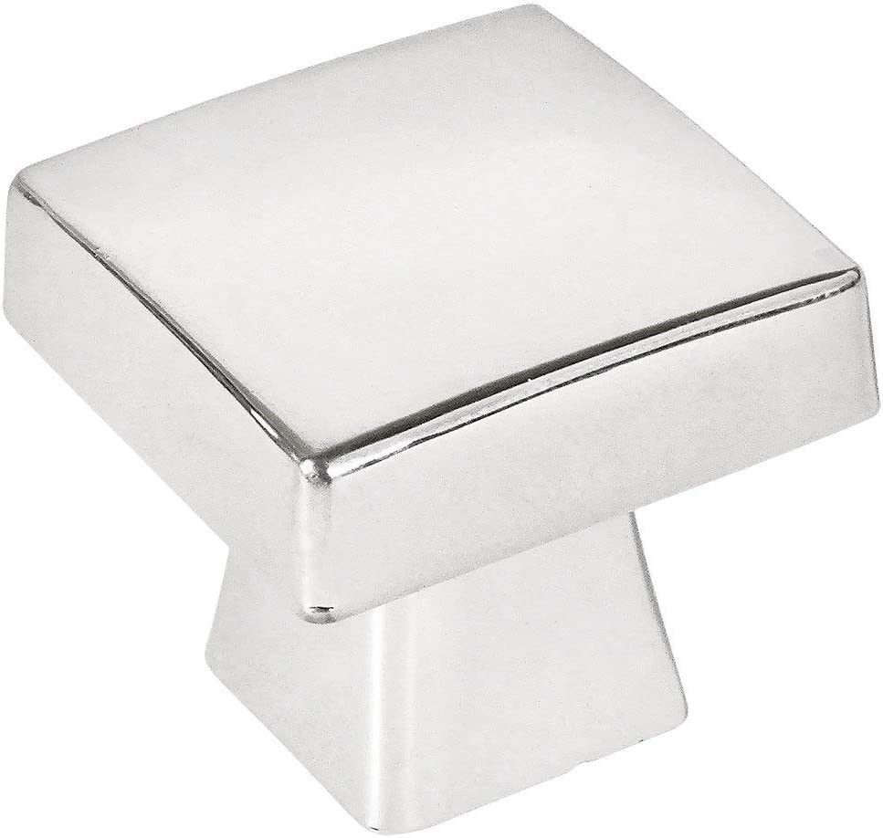 25 Pack - Cosmas 5233CH Polished Chrome Contemporary Square Cabinet Knob