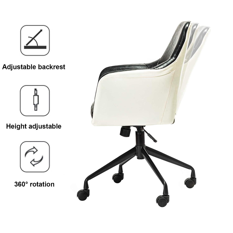 Mitten av ryggen datorspel kontorsstol ergonomisk PU-läder skrivbordsstolar med ryggstöd, justerbar höjd Rosa