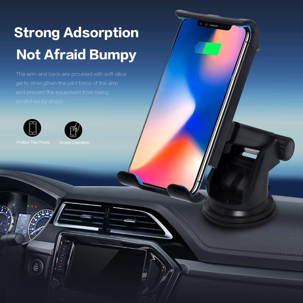 Yooh CZZJ-001 Blue Universal Car Phone Holder 360/° Rotatable Anti-Slip Car Phone Mount Compatible iPhone Xs\XR\XS MAX 8 8P Samsung Galaxy Note 8 S8 S8+