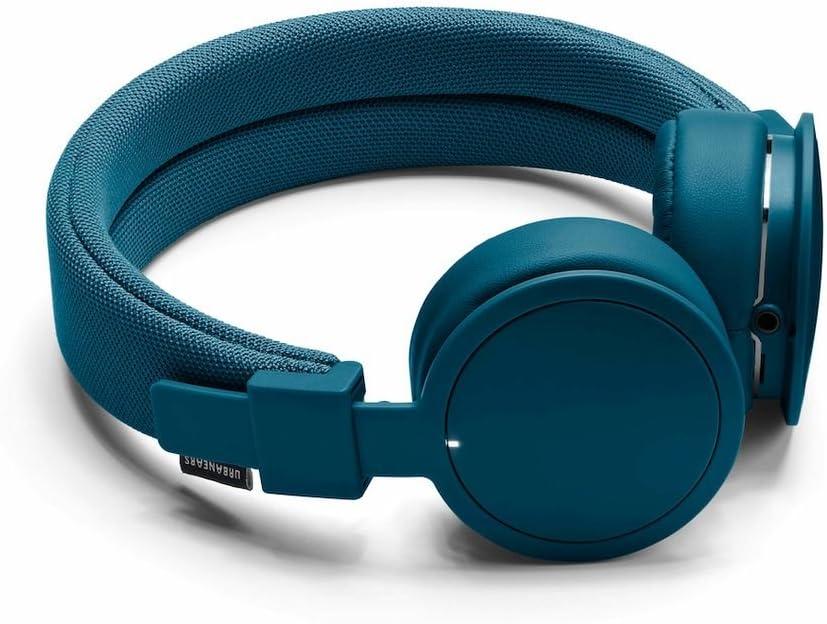 Urbanears Plattan ADV Wireless - Collapsible Headphones with Handmade Drivers, Remote and Sharing Zoundplug - Indigo