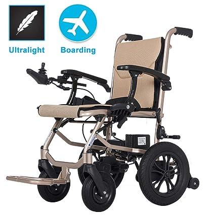Amazon.com: EMOGA Silla de ruedas eléctrica plegable ligera ...