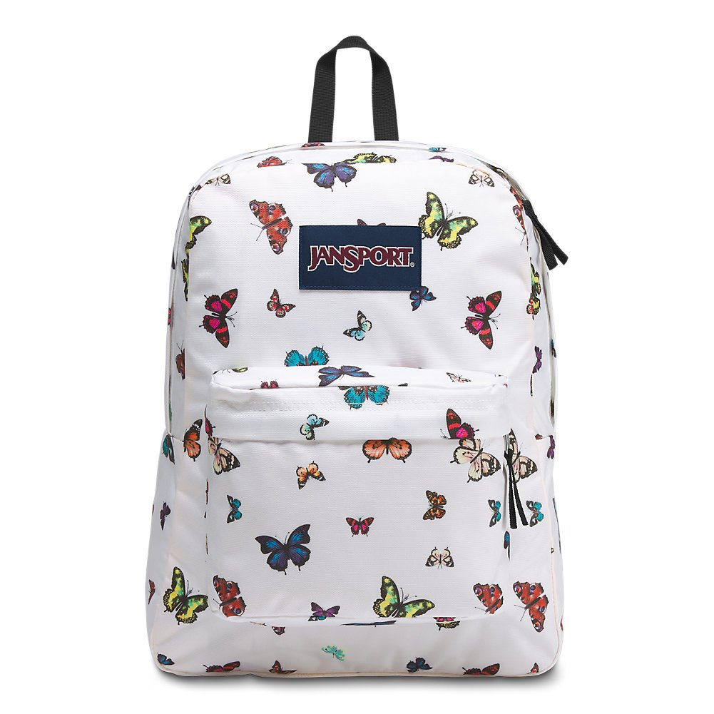 JanSport Superbreak Backpack - Butterflies - Classic, Ultralight
