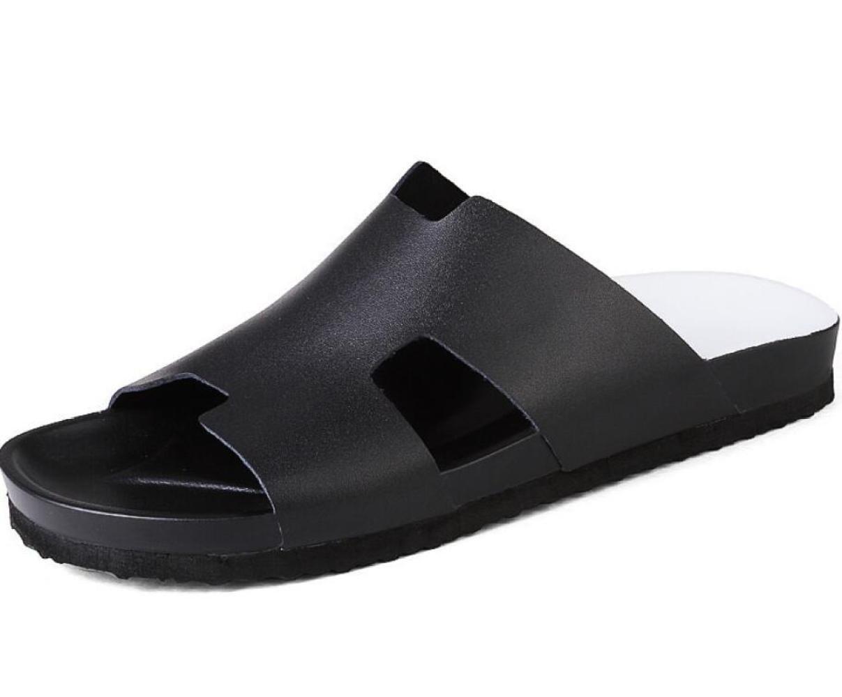 DHFUD Zapatos De Hombre Palabra Zapatillas Sandalias De Verano Sandalias Sandalias Zapatos De Playa 39 EU|Black