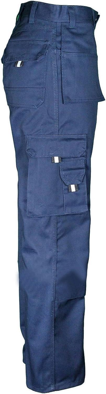 Navy, 34W, 30L Mens Work TUFF Duty Trouser Work-WEAR Multi-Pocket Tough Stitched