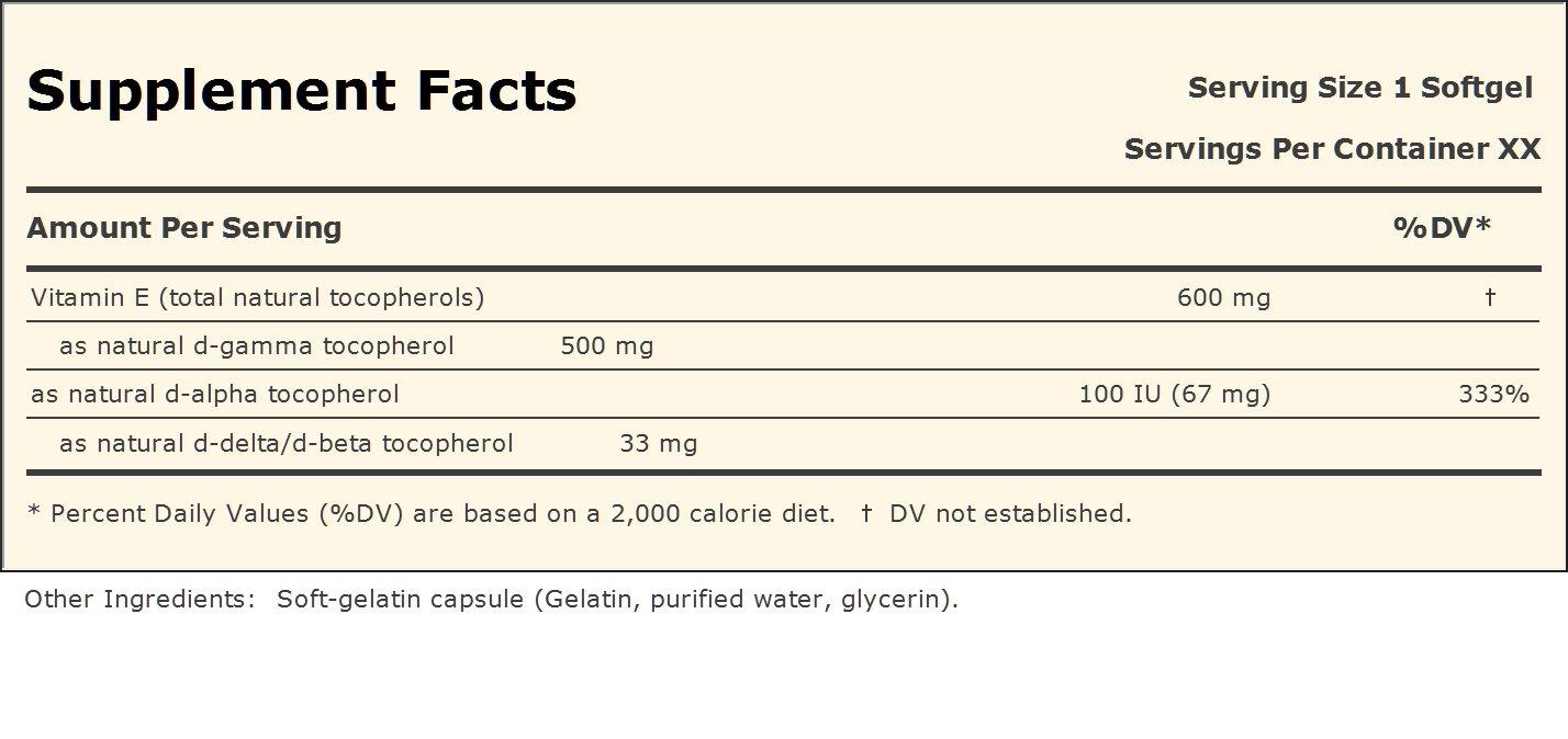 Andrew Lessman Ultimate Gamma Vitamin E, 180 Softgels