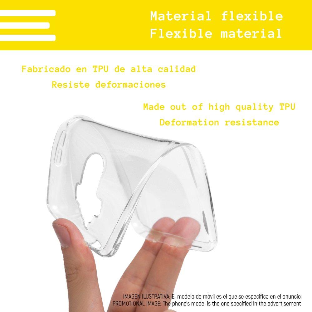 Dise/ño Exclusivo, Impresi/ón Alta Definici/ón Galaxia Azul Funnytech/® Funda Silicona para ZTE Blade V9 Vita Ultra Slim 1,5mm-Gran Resistencia Gel Silicona Flexible