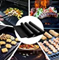 BBQ Grill Mat, Reusable & Dishwasher Safe & Nonstick Accessories, FAMELEY BBQ Grilling Mats for Gas, Charcoal, Electric Grill (13×16 inch), Set of 3
