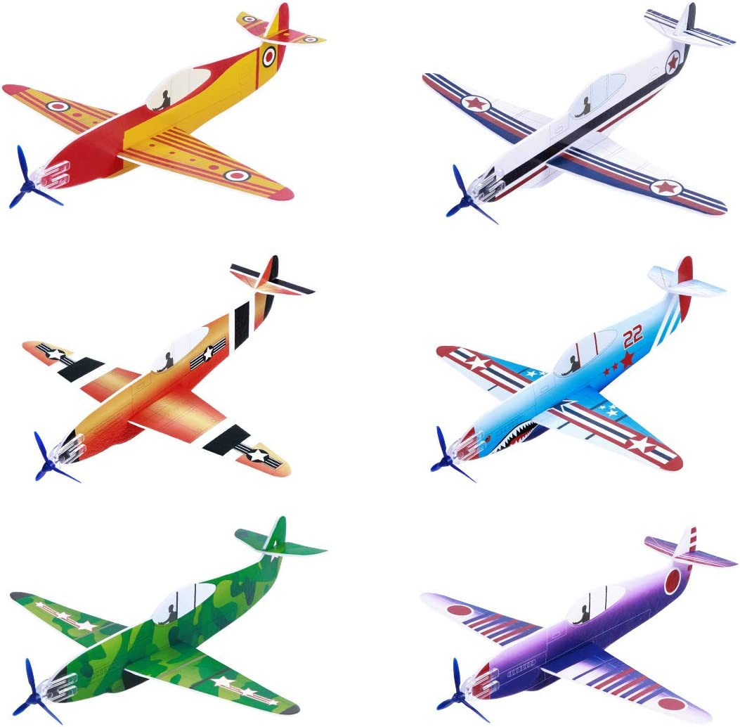 Foam Education Glider Aeroplane for Boys Toddlers for Kids Teens 4 Styrofoam Airplanes Outdoor Sport Toy Flying Glider Planes Foam Airplane Toy Family Flying Game Toy 36-Pack