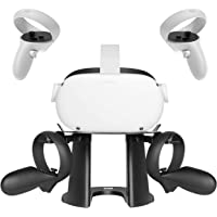 KIWI design VR Stand, Headset Display Holder and Controller Holder Mount Station for Oculus Quest/Quest 2/Rift/Rift S/GO/HTC Vive/Vive Pro/Valve Index VR Headset and Touch Controllers