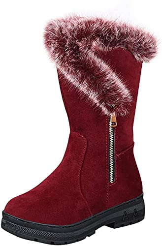 Damen Stiefeletten Winterboots Schnürstiefel Gefüttert Warme Boots Flach Schuhe