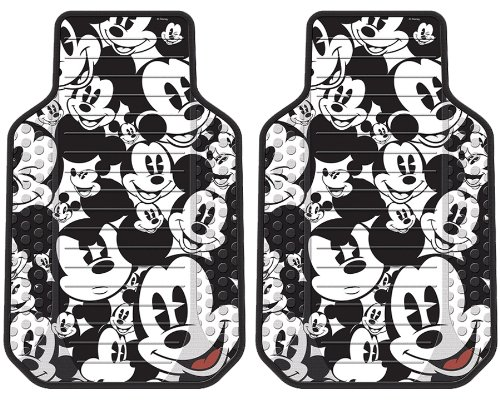 Buy Mickey Mouse Classic Expressions Faces Front & Rear Car Truck SUV Seat PlastiClear Floor Mats & Universal-fit Bucket Seat Covers & Steering Wheel Cover & CD Visor Organizer – 8PC (online)