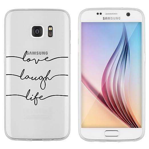 5 opinioni per Samsung Custodia di licaso® per il Samsung Galaxy S7 di TPU Silicone Love Laugh