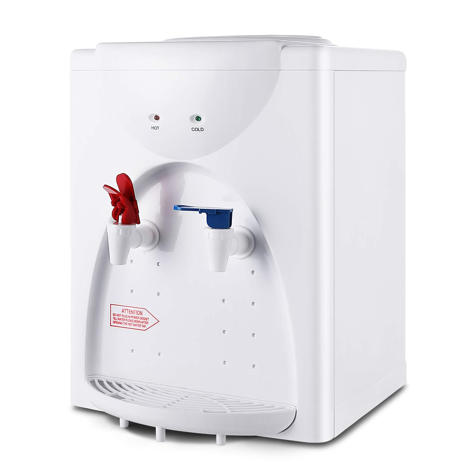 4-EVER Countertop Water Dispenser Table Top Loading Hot & Cold Water for Work, Home, Office Use,White