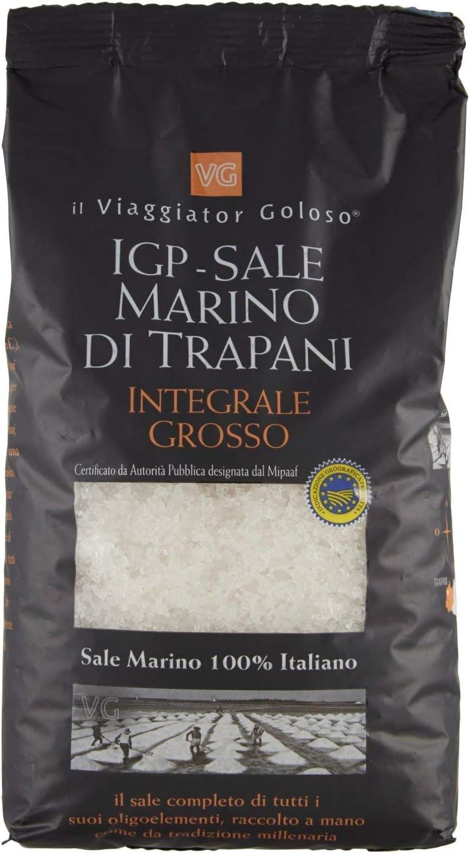 Il Viaggiator Goloso Sale Marino Integrale Grosso di Trapani Igp - 1000 g