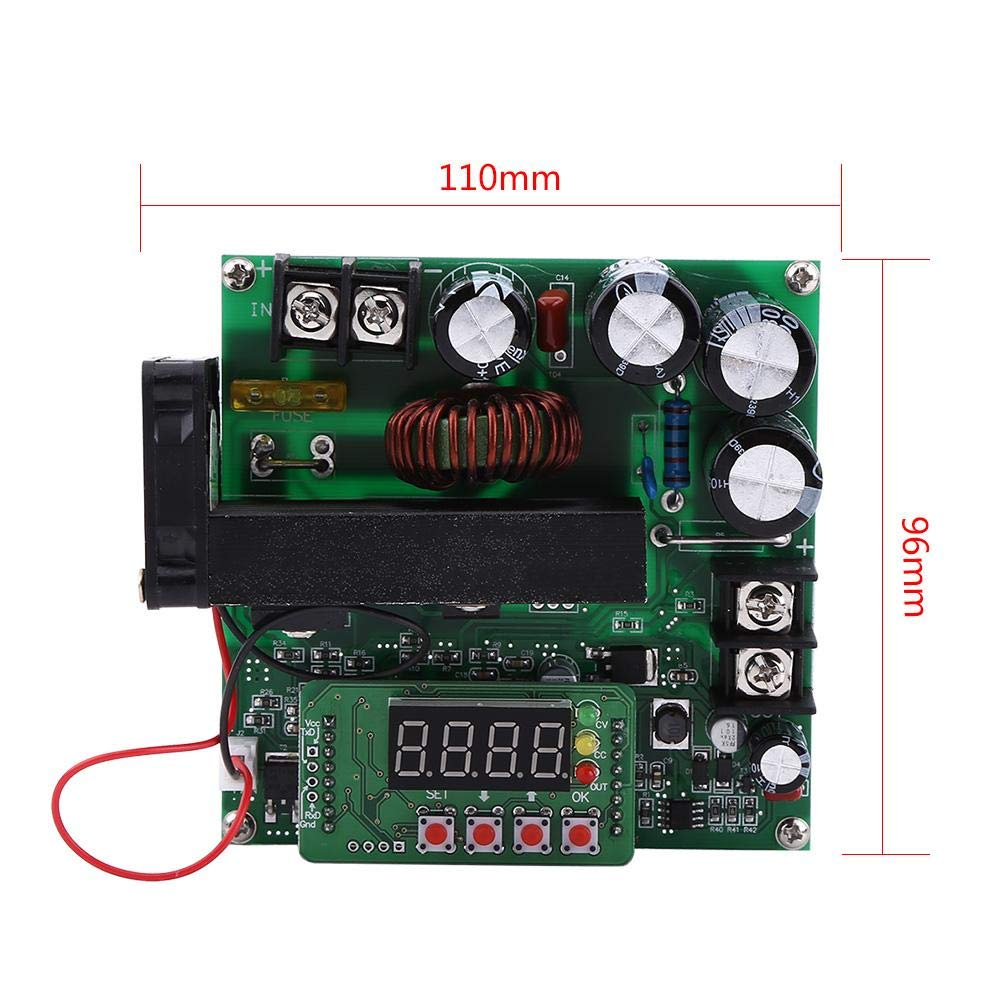 Step up Module, Asixx 900W DC High Precise Control Boost Converter Step up Voltage Converter DIY Voltage Step up Module Regulator by Asixx (Image #2)