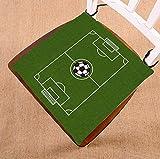 Custom Soccer Ground Chair Cushion,Soccer Ground Seat Cushion Chair Cushion Floor Cushion Size 16x16 inch