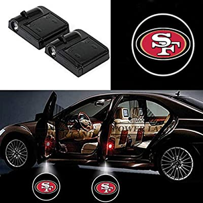 Wireless Car Door Lights, Universal Wireless Car Door Shadow Light Welcome Light Laser Emblem Logo Lamps Kit by FLYEEGO (For San Francisco 49ers): Automotive