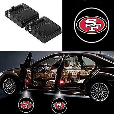 Wireless Car Door Lights, Universal Wireless Car Door Shadow Light Welcome Light Laser Emblem Logo Lamps Kit by FLYEEGO (For San Francisco 49ers): Automotive