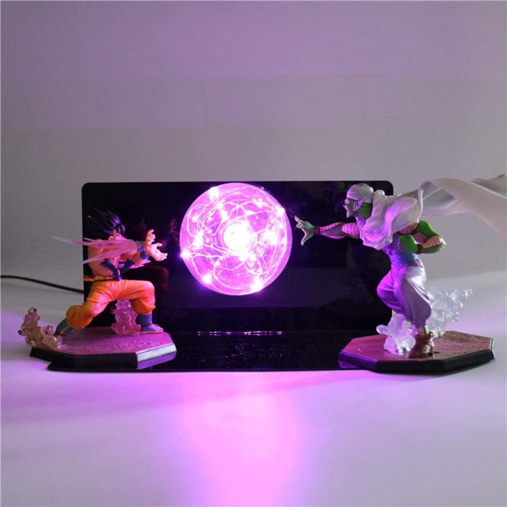 3D Luz nocturna anime Naruto Dragon Ball Goku DIY Creativa lámpara de mesa nocturna nocturna infantil regalo decoración