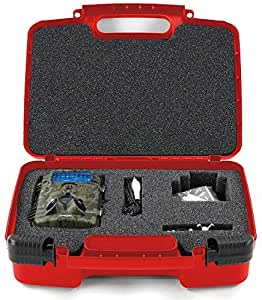 Life Made Better Storage Organizer - Compatible with XIKEZAN Trail & Game Camera, Toguard H50 ,Crenova Game & Trail Camera, Abask Trail Camera And Accessories- Durable Carrying Case - Red