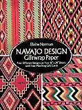 Navajo Design Giftwrap Paper, Elaine Norman, 0486270300