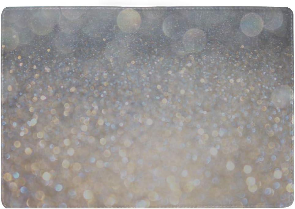 Shining Gemstone Diamond Blocking Print Passport Holder Cover Case Travel Luggage Passport Wallet Card Holder Made With Leather For Men Women Kids Family
