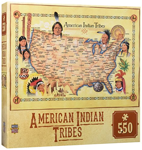 MasterPieces Tribal Spirit American Indian Tribes Settlement Map 550 Piece Jigsaw Puzzle by MasterPieces