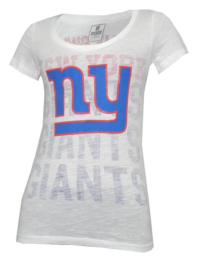 premium selection 675e3 483d5 Pink Victoria's Secret NY Giants Womens T Shirt ...
