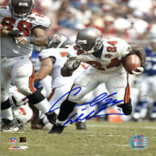 Cadillac Williams Autographed / Signed Running with the Ball 8x10 Photo ()