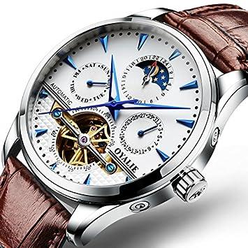 2808bba715d7 WATCHES-HAN Relojes para hombres 18 Colores Multifunción Fecha Automático  Reloj mecánico Moda Hueco Impermeable
