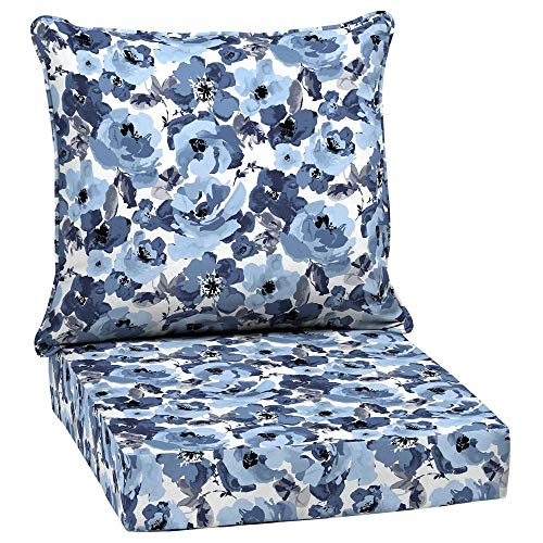 Arden Selections 24 x 24 Garden Delight 2-Piece Deep Seating Outdoor Lounge Chair Cushion (Cushions Arden Outdoor)
