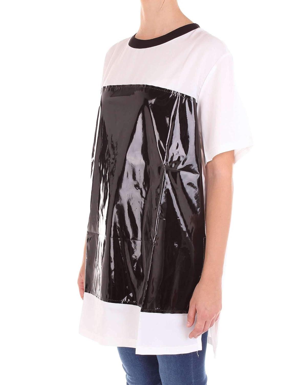 Numero00 Womens 2349TWHITE White//Black Cotton T-Shirt