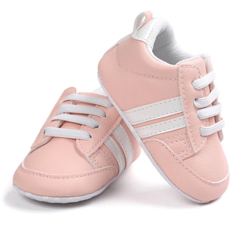 Efaster Toddler Infant Baby Girls Boys Soft Bottom Anti-Skid Leather Sports Shoe