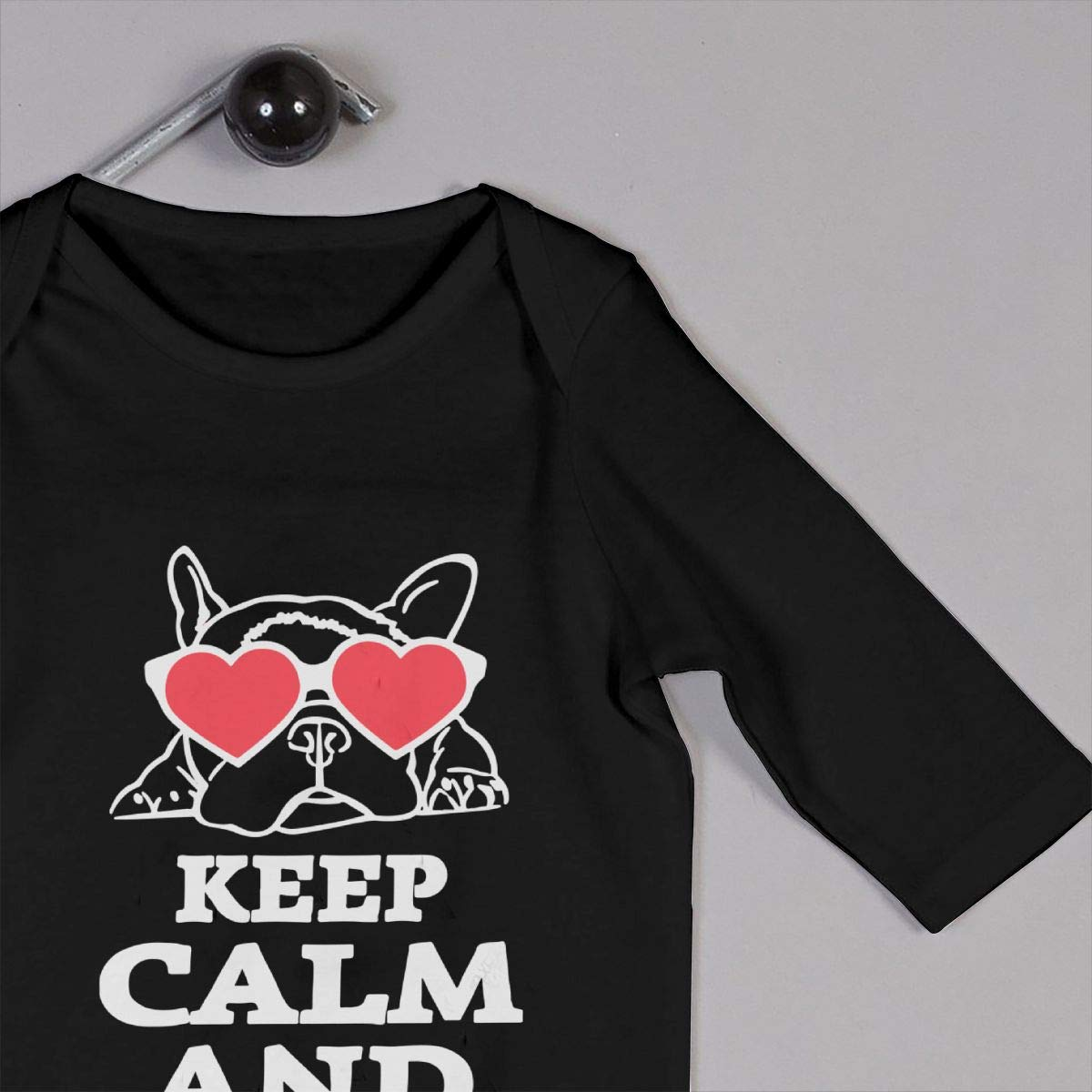 UGFGF-S3 Keep Calm /& Love Your Bulldog Baby Boy Girl Long Sleeve Bodysuit Coverall