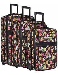 Owl Print 3-Piece Luggage Set